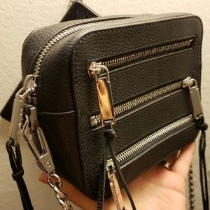 Rebecca Minkoff Bags - Rebecca Minkoff 4 Zip black Moto camera bag
